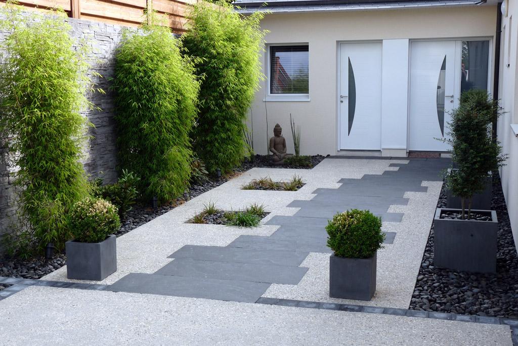 Entr e projet n 8 atelier deniel cr ateur d 39 espaces for Pierre blanche decoration jardin
